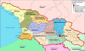 Административная карта Грузии