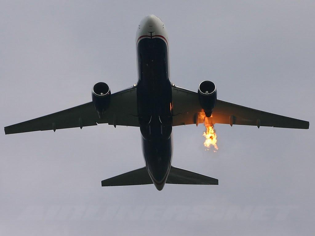Пожар в двигателе
