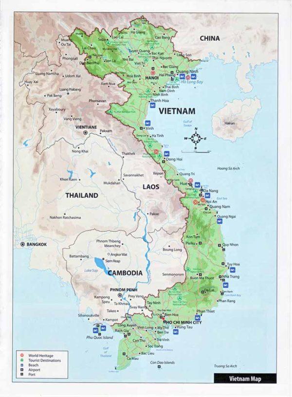Туристическая карта Вьетнама