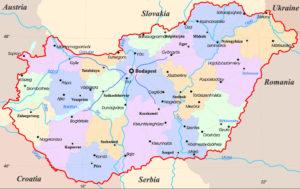 Административная карта Венгрии
