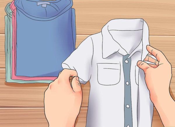 Аккуратно складывайте одежду