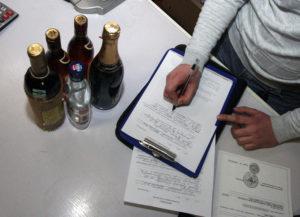 Алкоголь записывают в таможенную декларацию