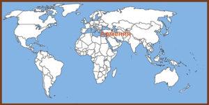 Армения на карте мира