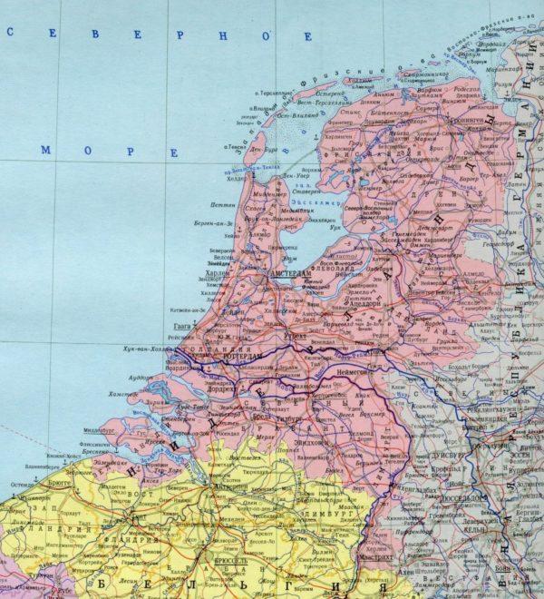 Географическая карта Нидерландов (Голландии)