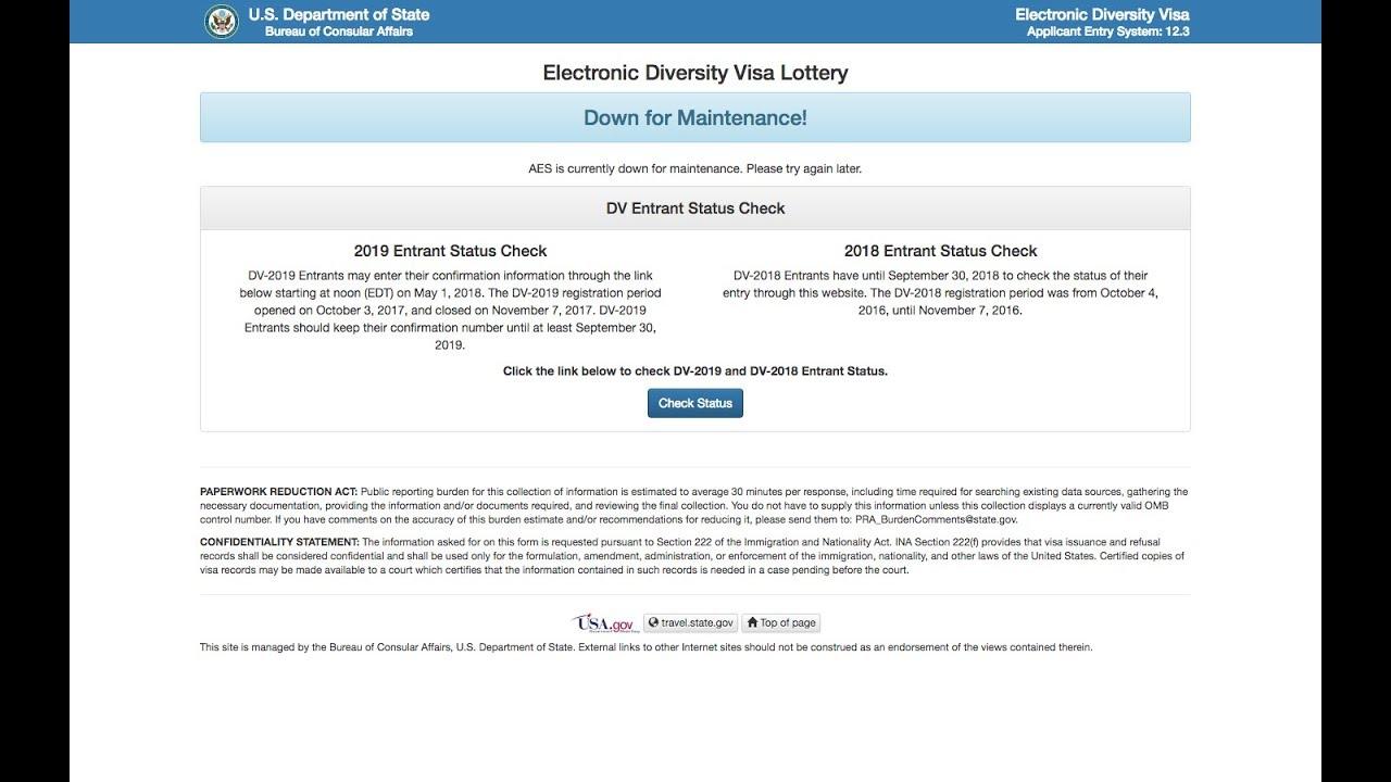 Главная страница официального сайта правительства США