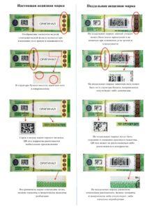 Как отличить настоящую акцизную марку от поддельной