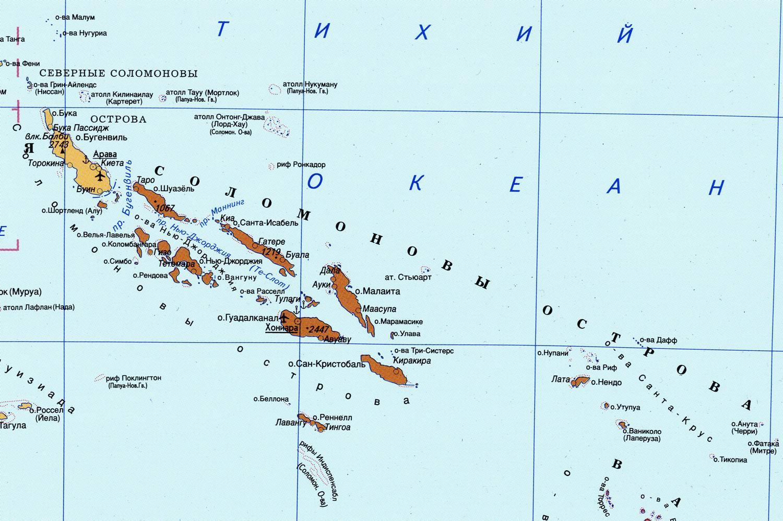 Карта Соломоновых островов