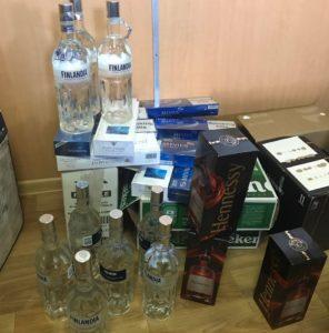 Конфискация алкоголя, незаконно провозимого через границу