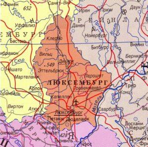 Люксембург - карта страны