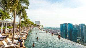 Marina Bay Sands, бассейн на крыше