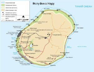 Науру - карта страны