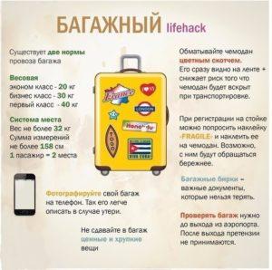 Некоторые правила перевозки багажа