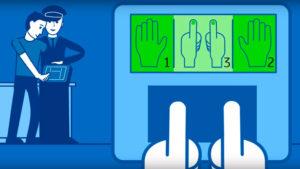 Порядок сканирования отпечатков пальцев.