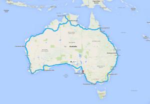 Предполагаемый маршрут. Австралия