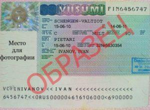 Пример готовой визы