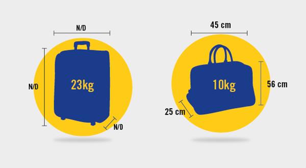 Размер багажа и ручной клади