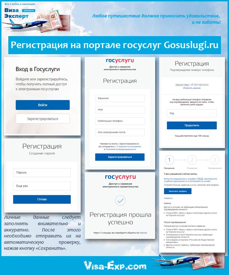 Регистрация на портале госуслуг Gosuslugi.ru
