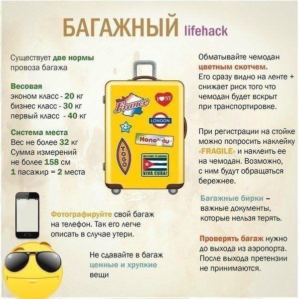 Рекомендации по провозу багажа