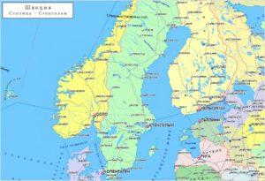 Швеция, карта