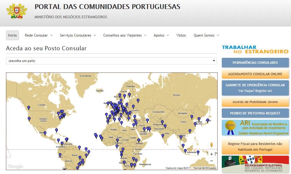 Сайт португальского МИД