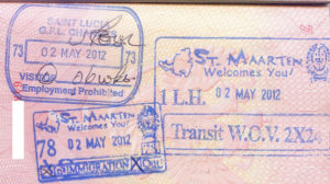 Сент-Люсия, штамп в паспорт