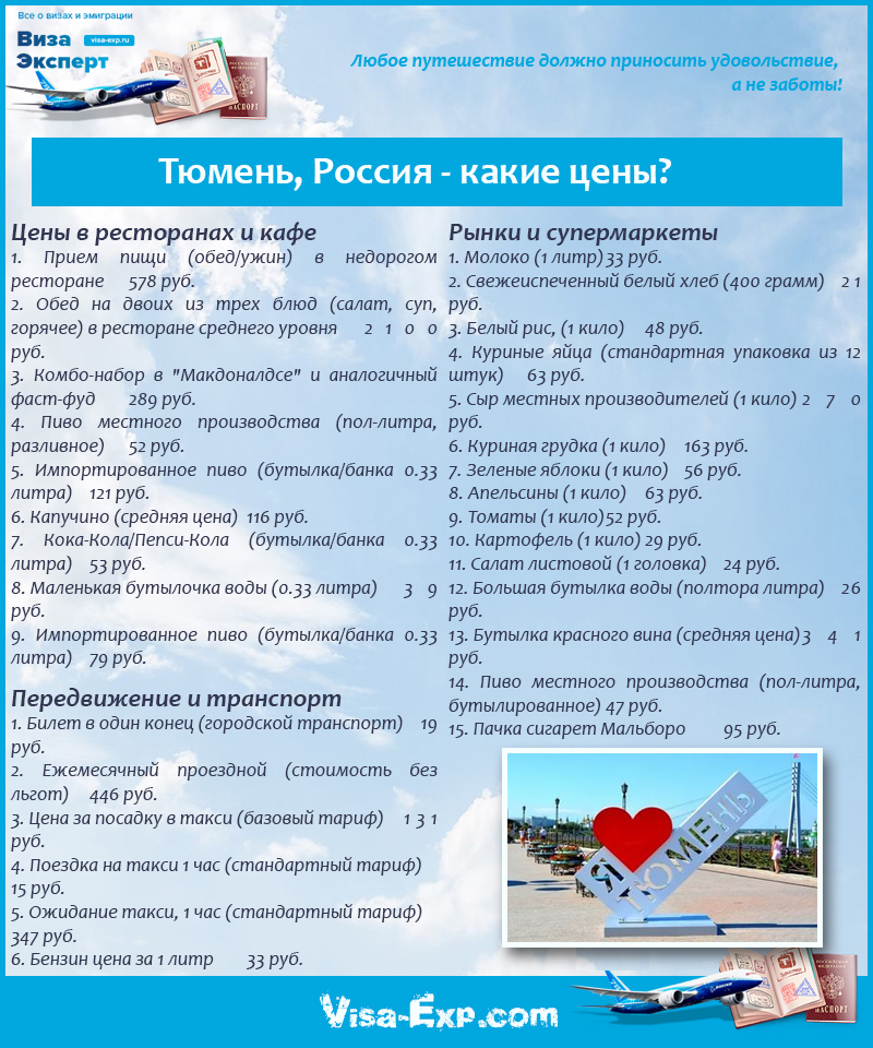 Тюмень, Россия - какие цены