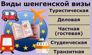 Виды шенгенской визы