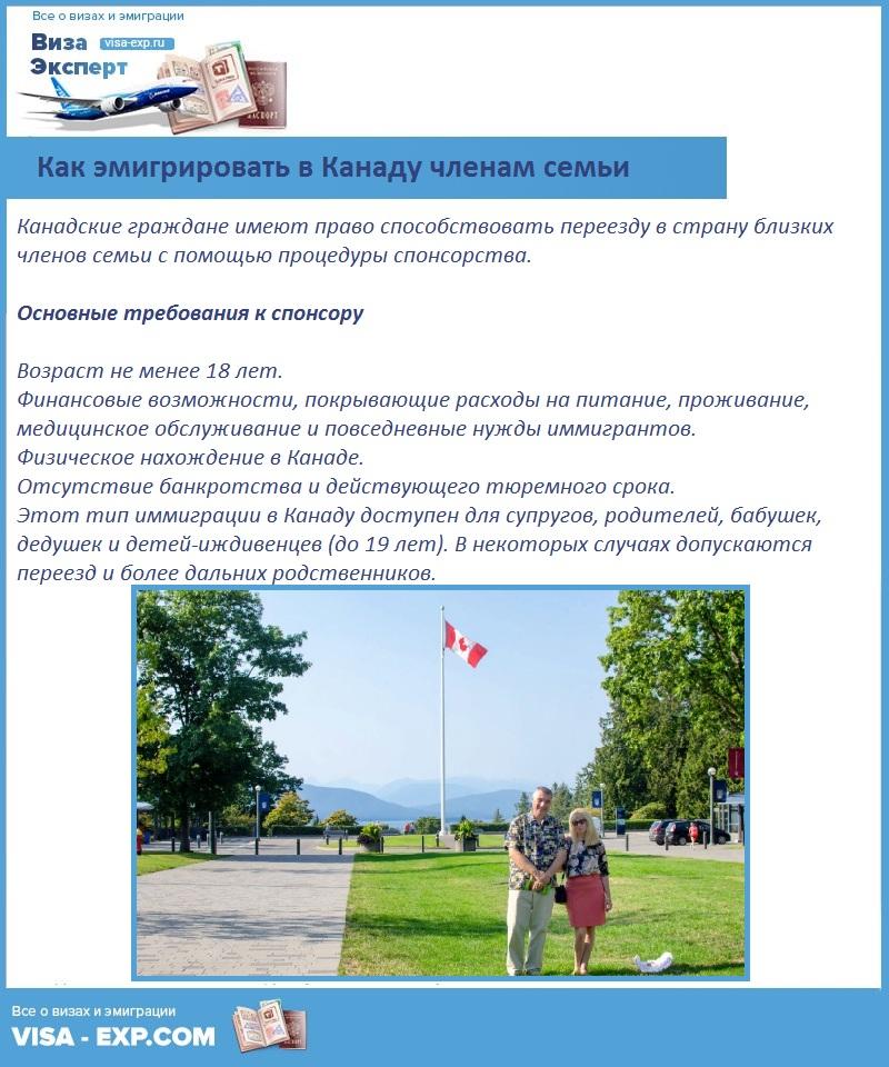 Как эмигрировать в Канаду членам семьи