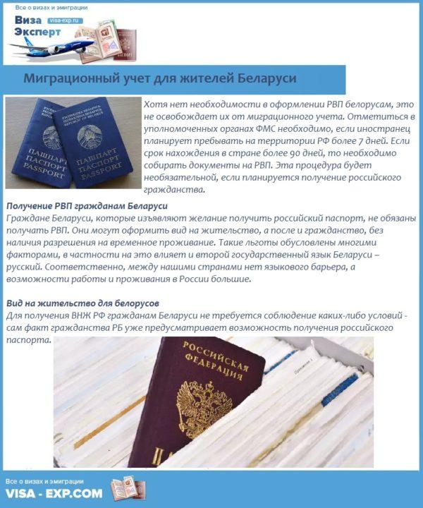 Миграционный учет для жителей Беларуси