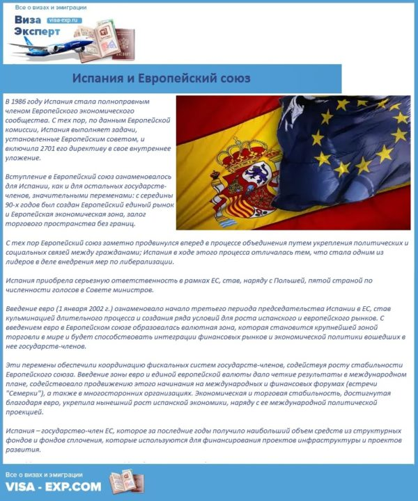 Испания и Европейский союз