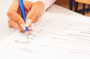 Заявление на получение разрешения и анкета