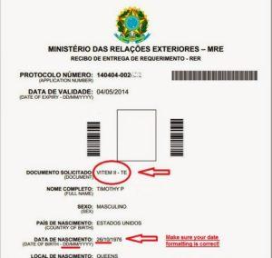 Анкета для бразильской визы