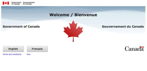 Домашная страница сайта Canada.ca
