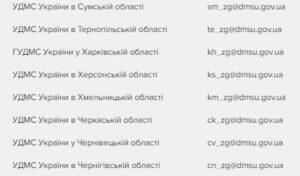 Электронные ящики для получения информации по поводу состояния оформления документов. Информация актуальна на 2017 год