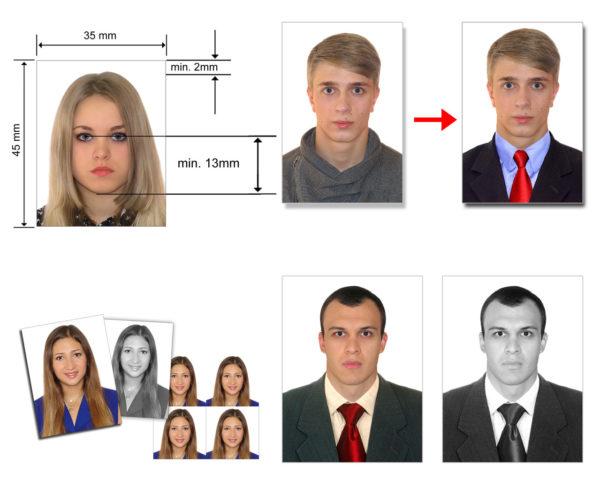 Фото на документы может быть цветным или черно-белым
