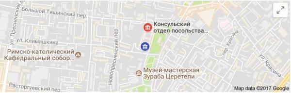 Карта Посольства РП в Москве