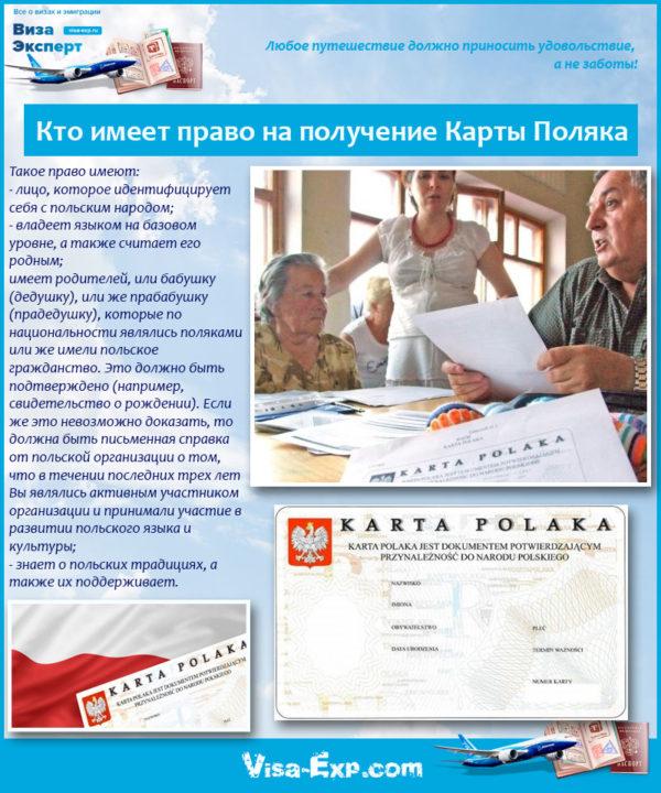 Кто имеет право на получение Карты Поляка