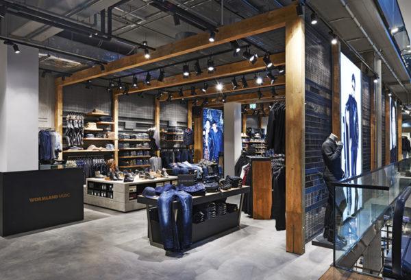 Магазин мужской одежды Wormland в Германии