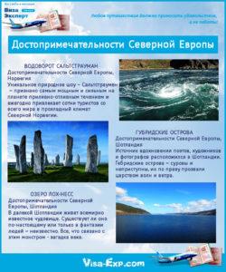 Места для туризма Северной Европы