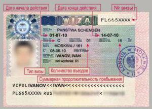 На фото показано, как выглядит шенгенская виза