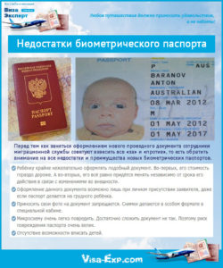 Недостатки биометрического паспорта