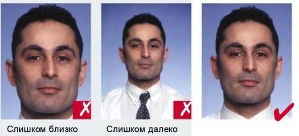 Оптимальный размер лица от макушки до подбородка на фотографии на шенгенскую составляет 35 мм
