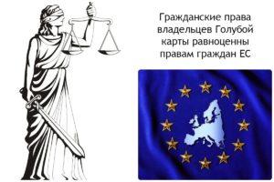Права владельцев Голубой карты ЕС