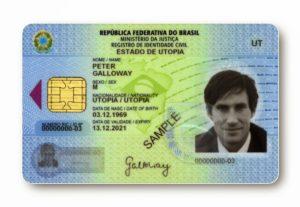 Пример карточки ПМЖ в Бразилии