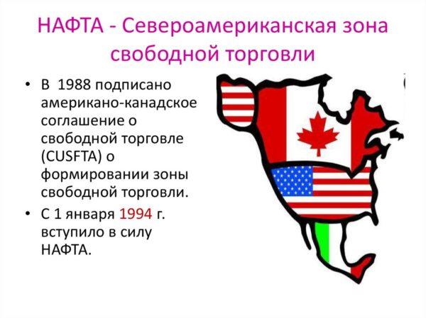 Североамериканская зона свободной торговли (НАФТА)