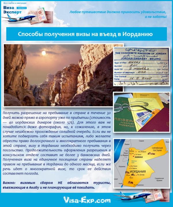 Способы получения визы на въезд в Иорданию