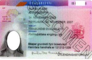 Так выглядит исландская карточка ВНЖ