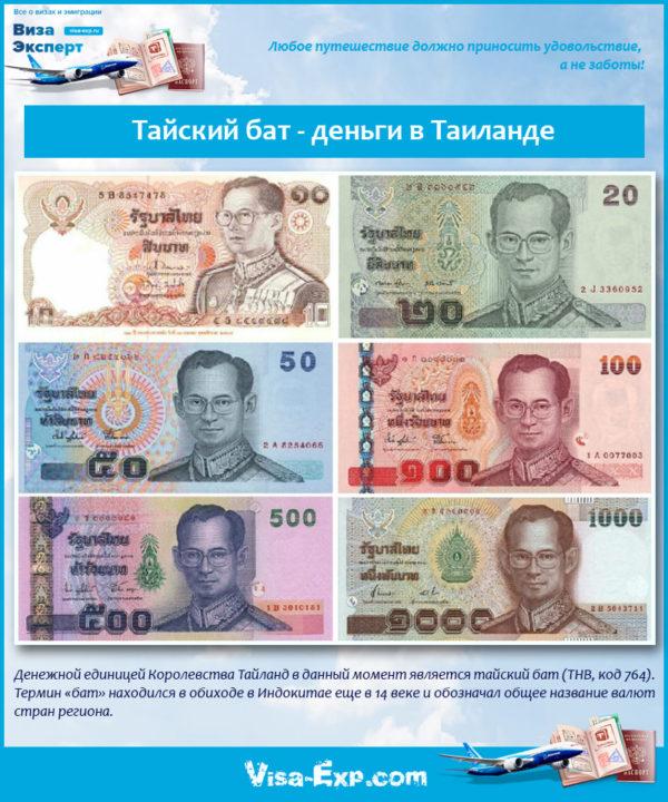 Тайский бат - деньги в Таиланде