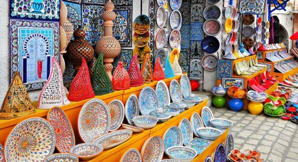 Тунис славится шумными рынками с диковинными товарами