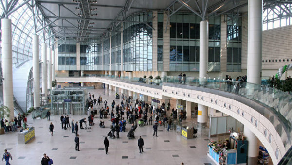 Здание аэропорта Домодедово внутри